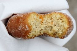 Butternut doughnut (biteaway view), Rockville Market Farm, Smorgasburg, Williamsburg, Brooklyn