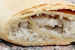 Coconut roll, Sugar City Bakery, Williamsbridge, Bronx