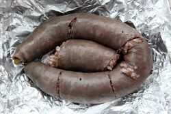 Antiguan-style black pudding, Olinville, Bronx