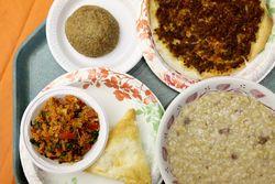 Kufte, lahmajoon, eech, boreg, keshkeg soup, Holy Cross Armenian food festival, Union City, New Jersey