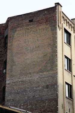 Adams California Fruit Gum, surviving signage, Yonkers, New York