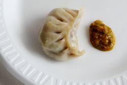 Beef dumpling, Dhaulagiri Kitchen, Jackson Heights, Queens
