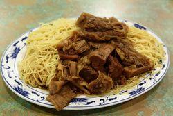 Stewed beef brisket and tendon lo mein, Big Hing Wong, Grand Street, Manhattan
