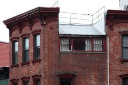 Split roofline, Greenpoint, Brooklyn