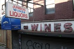 The former Junibois Liquor Store, Williamsburg, Brooklyn