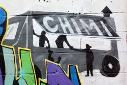 Washington Heights, Mi Orgullo (My Pride) (detail of chimi truck), West 176th Street, Manhattan