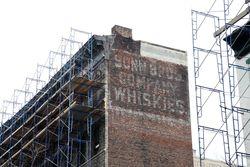 Sonn Bros Company Whiskies, surviving signage, Desbrosses Street, Manhattan