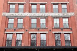 Merchants Refrigerating & Ice Manufacturing Company, surviving signage, Beach Street, Manhattan