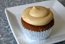 Cornmeal cupcake with Steen's cane sugar frosting, Cochon Butcher, New Orleans