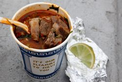 Birria, Tacos El Bronco truck, Sunset Park, Brooklyn