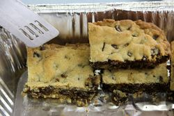 Chocolate-raisin squares, Our Lady of Mount Carmel Rosary Society Bake Sale, Astoria, Queens