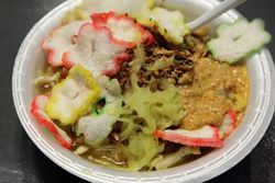 Bubur ayam, Indonesian bazaar at City Blessing Church, Woodside, Queens