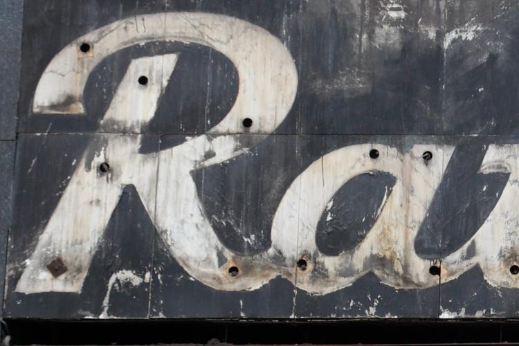 Ratner's, surviving signage, Delancey Street, Manhattan