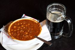 Chili and beer, McSorley's Old Ale House, East 7th Street, Manhattan