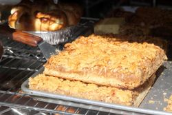 Apple cake, Rzeszowska Bakery, Greenpoint, Brooklyn