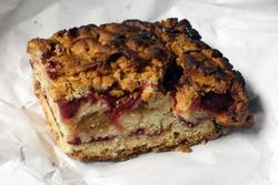 Cherry-apple crumb square, Bakery Rzeszowska, Greenpoint, Brooklyn