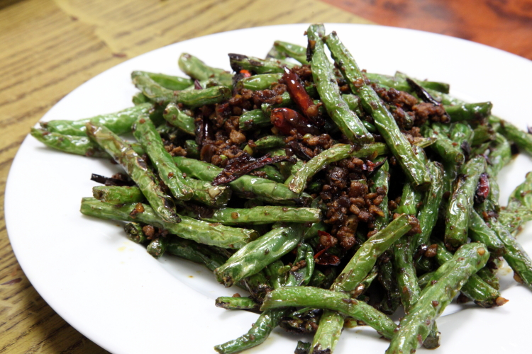 Sauteed string beans, Rural, Flushing, Queens