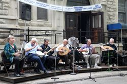 House band, Annunciation Greek Orthodox Church Festival, West 91st Street, Manhattan