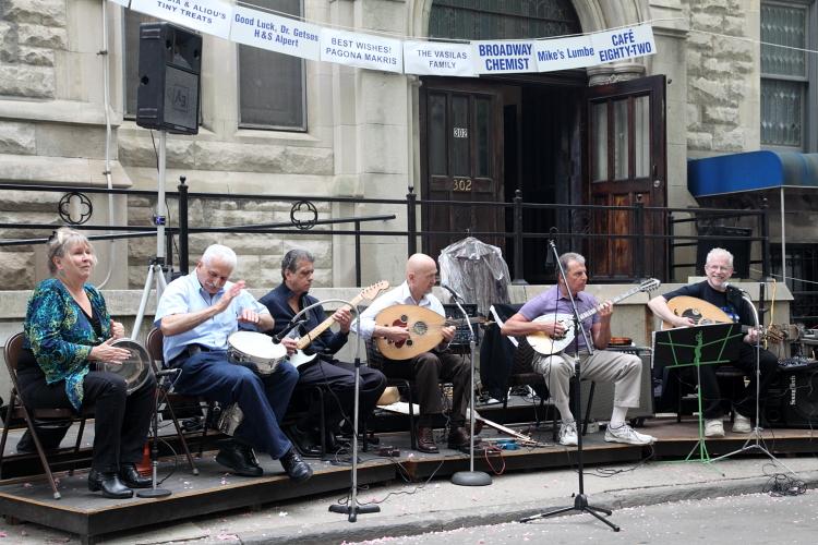 House band, Annunciation Greek Orthodox Church Festival, West 91st Street, Manhattan