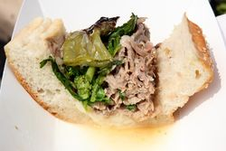 Roast pork sandwich (portion), Federoff's Roast Pork, Smorgasburg, Brooklyn Heights, Brooklyn