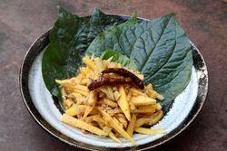 Tum mamuang, green mango salad, Chiang Mai, Red Hook, Brooklyn