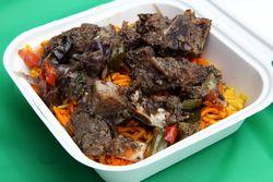 Hilib ari, roasted goat, Safari, Go Africa festival, West 116th Street, Manhattan