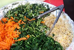 Vegetables for pecel, Journey to Indonesia, East 68th Street, Manhattan