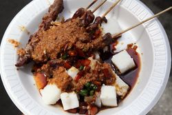 Sate kambing, Journey to Indonesia, East 68th Street, Manhattan
