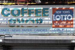 Flatbush Coffee Shop, surviving signage exposed during construction, Prospect Lefferts Gardens, Brooklyn