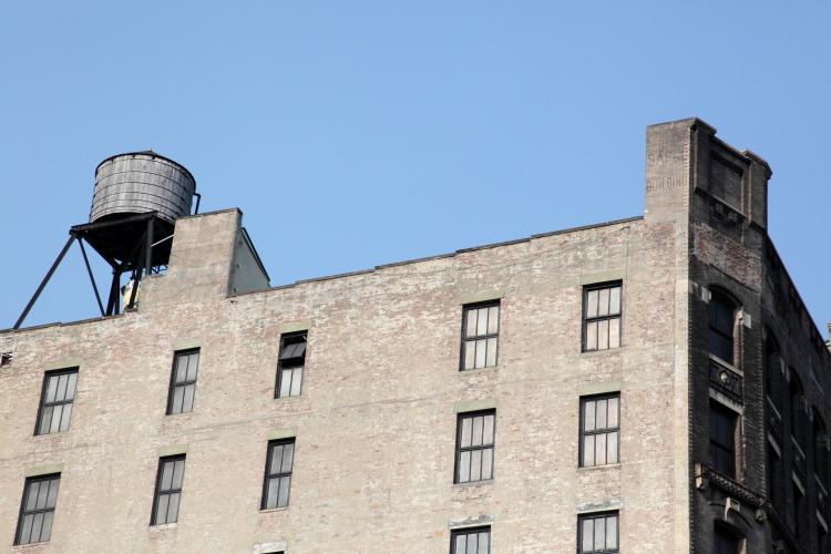 Sapco Building, surviving signage, Franklin Street, Manhattan