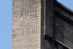 Sapco Building, surviving signage, Franklin Street, Manhattan