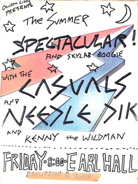Casuals, Needle Dik, Kenny the Wildman, Earl Hall