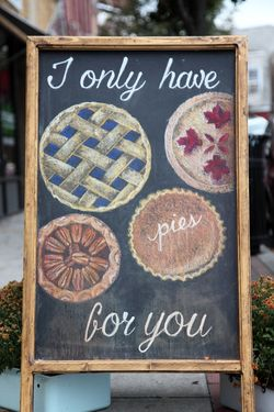 I only have pies for you, hand-drawn artwork, Erie Coffeeshop & Bakery, Rutherford, New Jersey