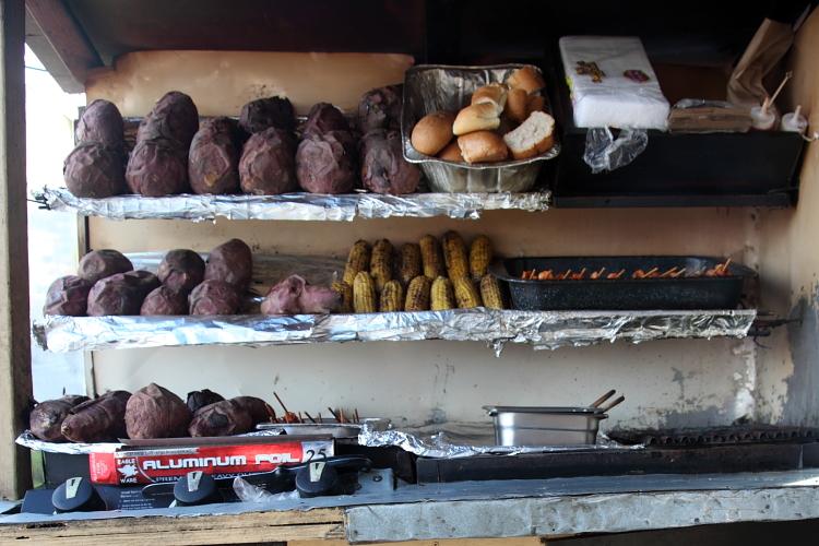 Batata asada (roasted sweet potato) cart, Sherman St, Manhattan