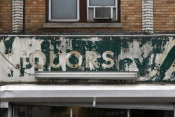 Former liquor store, former pharmacy, surviving signage, Jersey City