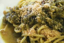 Pasta con sarde dressed with toasted breadcrumbs, Joe's of Avenue U, Gravesend, Brooklyn
