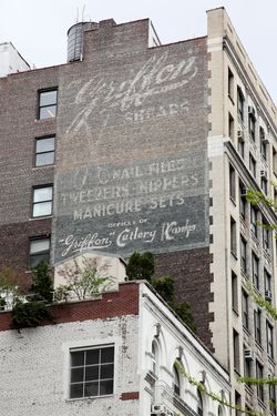 Surviving signage for Griffon Cutlery, West 19th Street, Manhattan