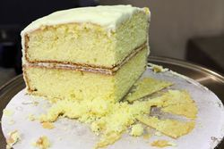 Lemon cake, Bobby's Restaurant, Newark, New Jersey