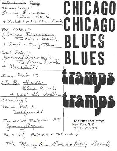 Jimmy Dawkins Blues Band, Needle Dik, Tramps