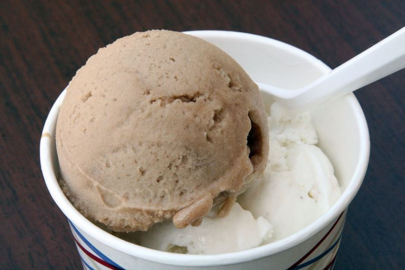 Tamarind sherbet and soursop ice cream at the Torico Homemade Ice Cream Parlor, Jersey City