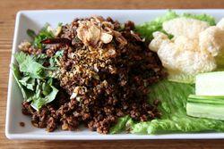Larb Muang with beef, Thai Diva Cuisine, Sunnyside, Queens