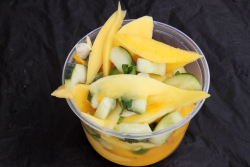 Mango salad, half-hot, half-mild, Trinidad and Tobago Culture and Fun Day, East Flatbush, Brooklyn