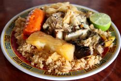 Cheebu jen (white), Fouta Halal Food, Soundview, Bronx