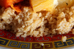 Cheebu jen (white; detail of rice), Fouta Halal Food, Soundview, Bronx