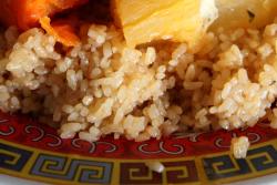 Cheebu jen (white; detail of rice), Fouta Halal Food, Soundview, Bronx
