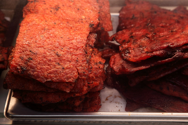 Shrimp-and-pork jerky, Singapore Malaysia Beef Jerky, Elizabeth St, Manhattan