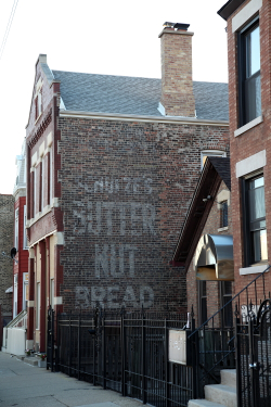 Schulze's Butter Nut Bread, surviving signage, Chicago