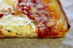 Sotto sopra slice (detail), Rizzo's Fine Pizza, Astoria, Queens