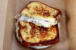 French toast grilled cheese with pork roll, Muttley Royale, 6th Borough Market, Jersey City