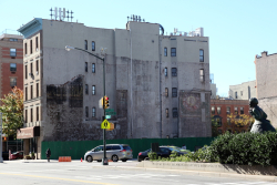 Fletcher's Castoria and Bloomindale's, surviving signage, Harriet Tubman Square, Manhattan